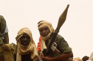 Combattants du Sahel (Tibesti) Photo P. Rochot 1983
