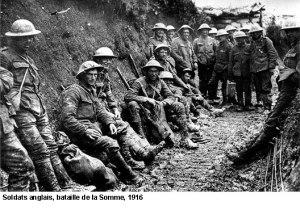 Bataille de la Somme soldats anglais 1916