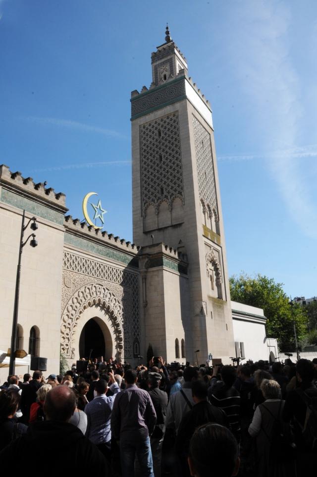 Mosquée Paris manif