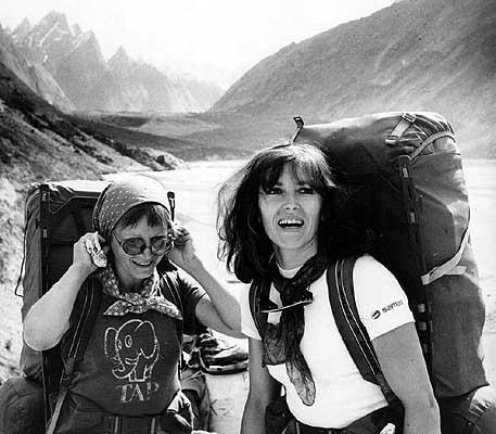 Wanda Rutkiewicz en montagne