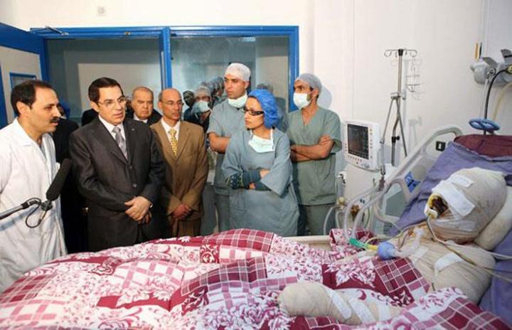 002,1Tunisie Ben ali et Mohamed Bouazizi