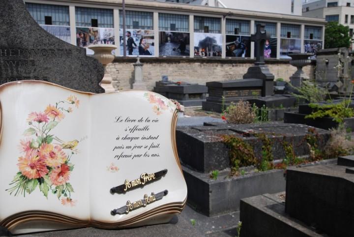 Syrie expo Muzaffar Salmann vue du cimetière de Grenelle mai 2015 (2) (Copier)