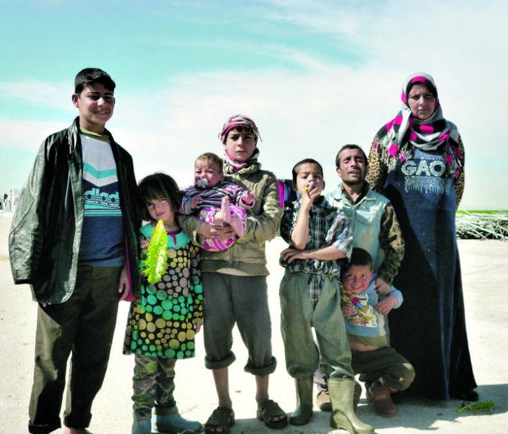 Wahda et ses enfants qui ont fui l'etat islamique Libé Luc Mathieu