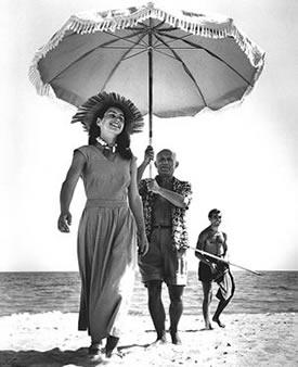 Capa et Picasso et François Gilot 1948