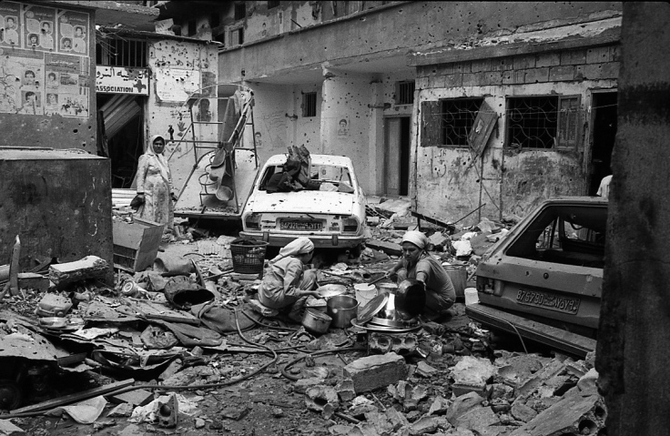 Liban sabra Chatila mars 1985 attaqué par chiites du mvnt Amal
