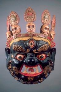 Masque de déité terrible pour danse rituelle cham