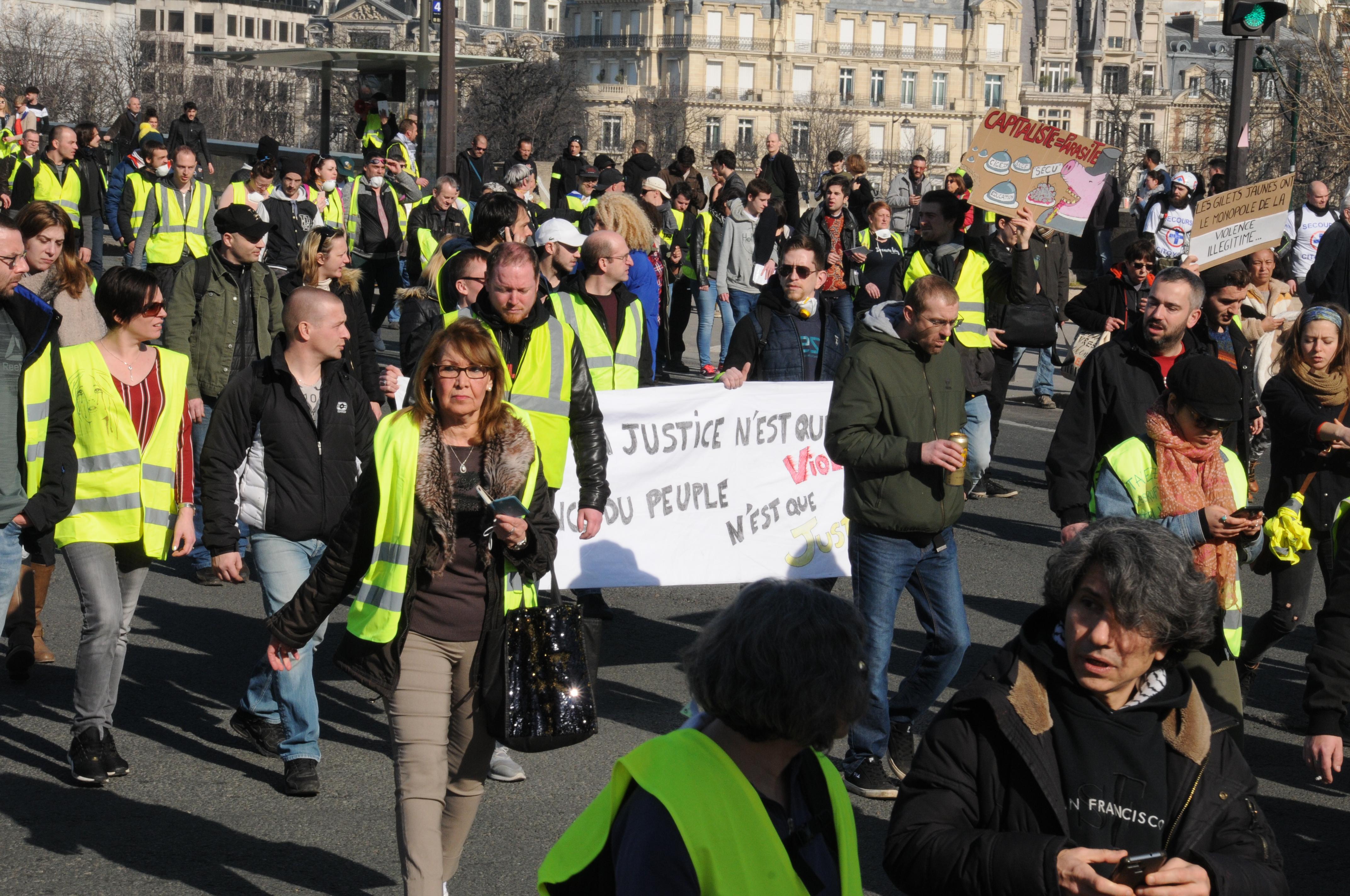 Gilets jaunes manif XIV ème acte 16 février 2019 (92)