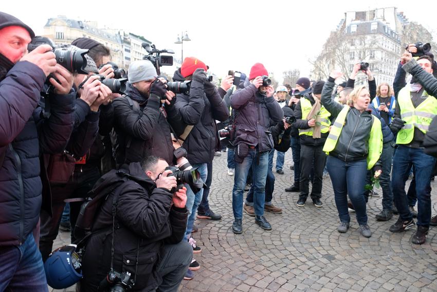 Paris Gilets jaunes acte X des Invalides aux Invalides janvier 2019 (Journalistes médias) (7)