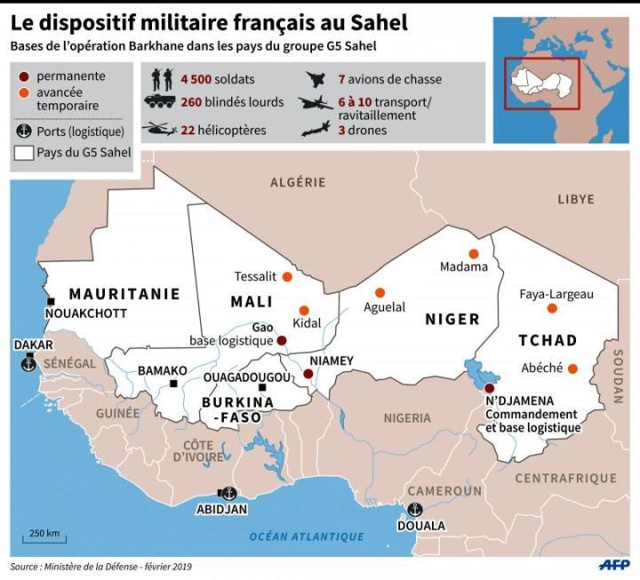 Afrique Carte du Sahel Mali Burkina Mauritanie